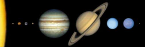 solar system scale image